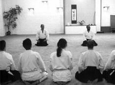 Waiting before the Aikido-training